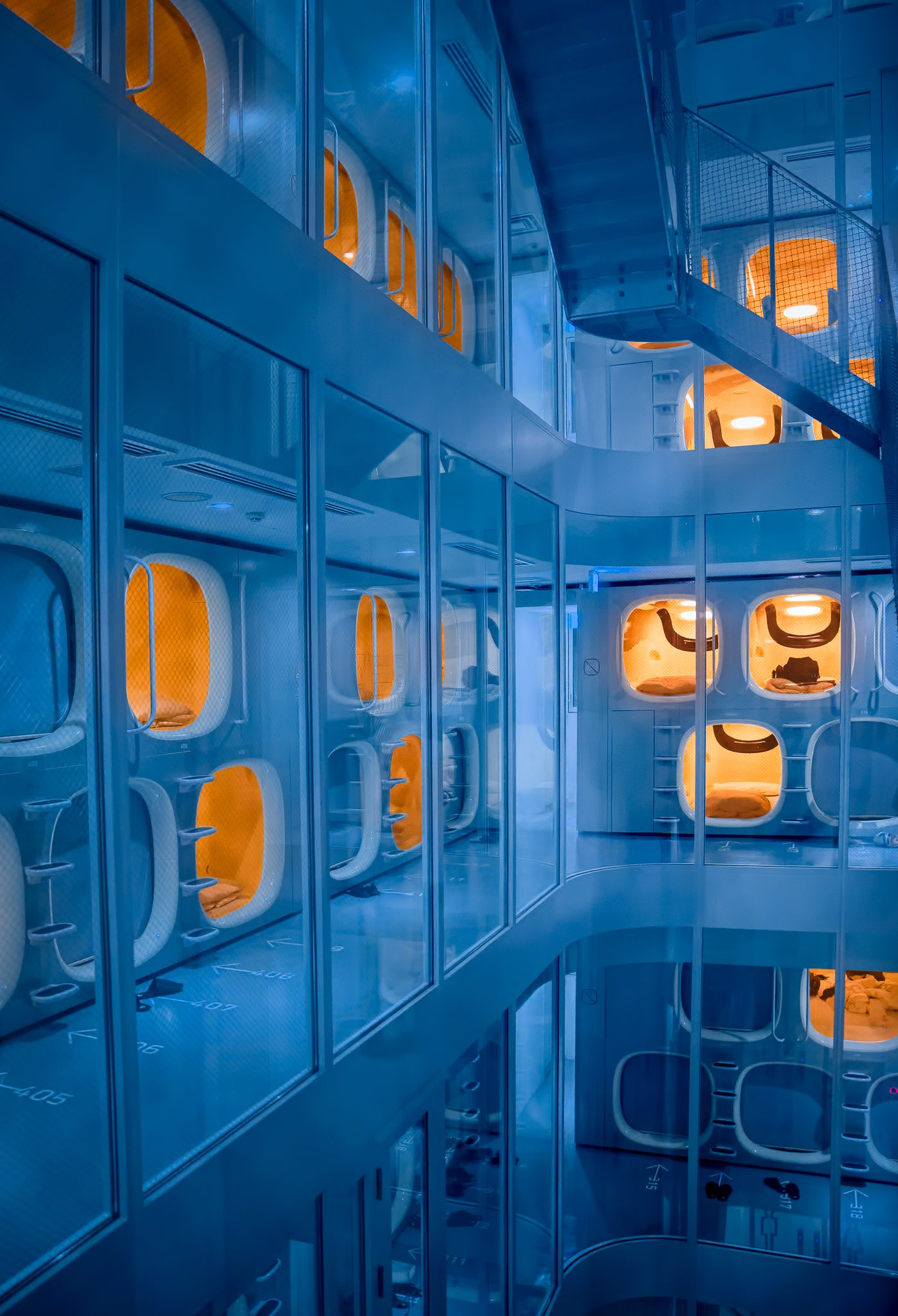 "I think I woke up in the Matrix pod. Capsule hotels are so uniquely Japanese that I was determined to experience them at least once. What is more Japanese than ""just"" a capsule hotel? Ultra-futuristic a little bit dystopian themed Capsule hotel!"