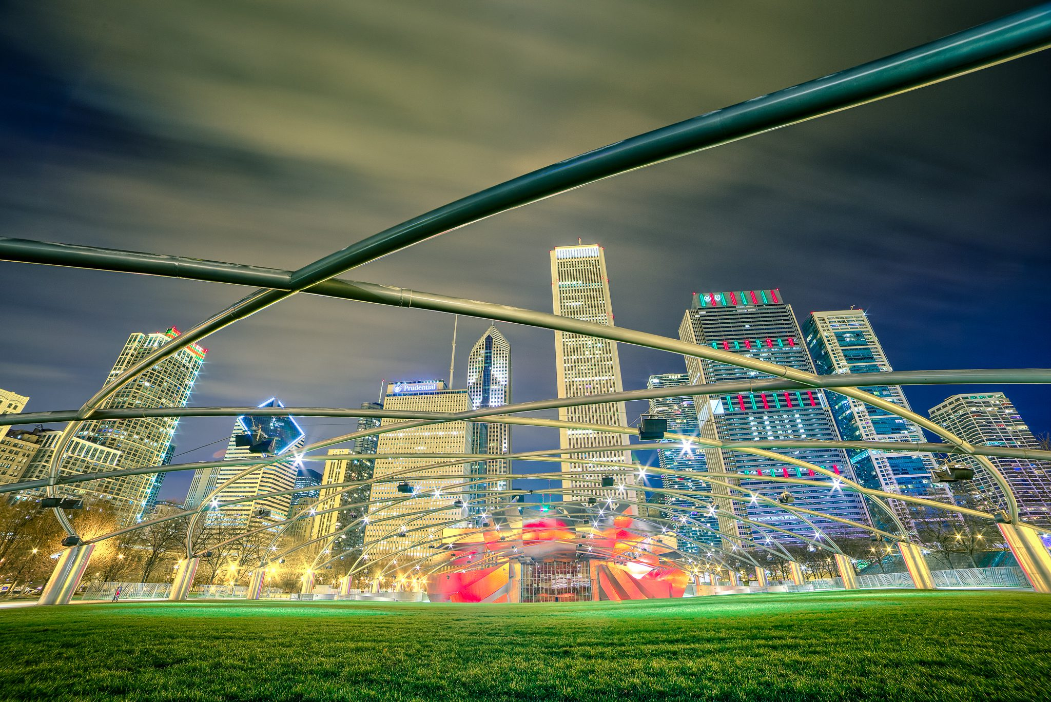 Jay Pritzker Pavilion, also known as Pritzker Pavilion or Pritzker Music Pavilion, is a bandshell in Millennium Park in Chicago. It is classified as a work of art rather than a building.